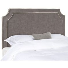 Safavieh Dulane Headboard In Charcoal & Light Gray Charcoal, Light... ($398) ❤ liked on Polyvore featuring home, furniture, beds, headboards & footboards, upholstery furniture, safavieh home furniture, light grey headboard, fabric bed and transitional furniture