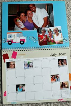 Personalized Family Calendars: One of my favorite gifts to give every year! And so easy to make!