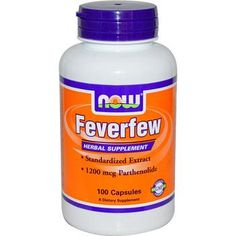 Buy NOW Brand Feverfew - 100 Capsules  at up to 50 percent off retail today. We carry one of the Nation's largest selections of vitamins and supplements like Feverfew - 100 Capsules  at some of the web's best prices.
