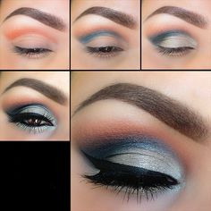 Grey Shimmery Eyeshadow Tutorial