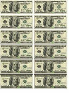Dollar Money, 100 Dollar, Fake Money Printable, Money Birthday Cake, Money Template, Money Notes, Edible Cupcake Toppers, Edible Printing, Aesthetic Photography Nature