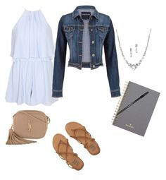 """""""Last Day of School Outfit!"""" by noel-slone ❤ liked on Polyvore featuring maurices, Billabong, Yves Saint Laurent, Mulberry and Paper Mate"""