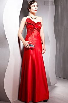 Charming A-line Sweetheart Floor-length Beading Evening Pageant Dress
