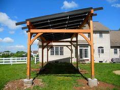 Solar Pergola traditional patio-Carport