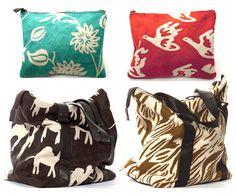 Virginia Johnson, accessories, fabric bags, textile design