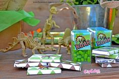 Dino party favors from Roar Dinosaur Birthday Party at Kara's Party Ideas. See more at karaspartyideas.com!