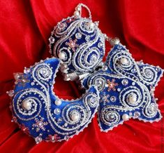 bead embroidered ornaments