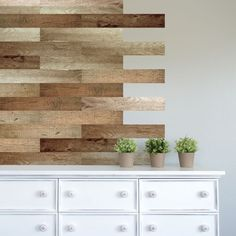 Give your walls shiplap detail minus the fuss with DCWV's self-adhesive vinyl decals.