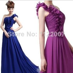Find More Information about 2014 New Sweet FLower Chiffon One Shoulder Long Bridesmaid Dresses,High Quality dress shirt cuff links,China dress women plus size Suppliers, Cheap flower wind from Jevons Wedding Store on Aliexpress.com