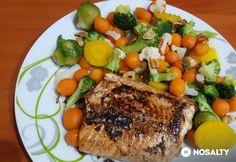 Lazacszelet párolt zöldségekkel Meat, Food, Essen, Meals, Yemek, Eten