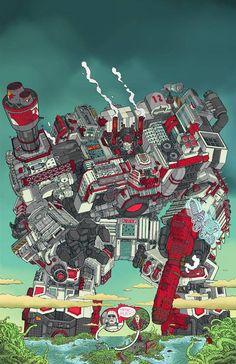 Transformers Metroplex by Ulises Farinas
