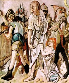Max Beckmann - Christ and the Woman Taken in Adultery, 1917
