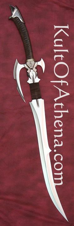Kit Rae Avoloch Mithrodin Sword. The Sword of Enethia, a Mithrodin warrior in service to the Great Realm who fought against the Dark One. Forged by the dark elf Tethietol, the side blade is engraved with ''Avoloch will yield to none but truth'', in Anglecal runes.