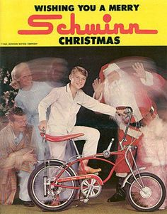 Old Schwinn Sting Ray ad - I loved having this bike...mine was blue, and I miss it.