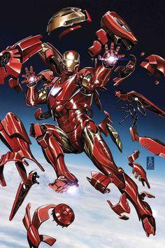Tony Stark: Iron Man #2 (2018) Variant Cover by Mark Brooks