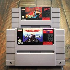 On instagram by flashbackfigs #supernintendo #microhobbit (o) http://ift.tt/1Tg1Sjt totally different but totally awesome games: Blackthorne & U.N. Squadron #snes  #nintendo #ninstagram #nestalgia #retrocollective #retrogaming #videogames #