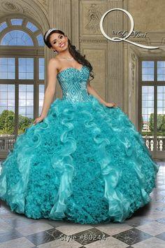 Deslumbrante y hermoso vestido, Q by Davinci style 80244 Elegant Organza, gown…
