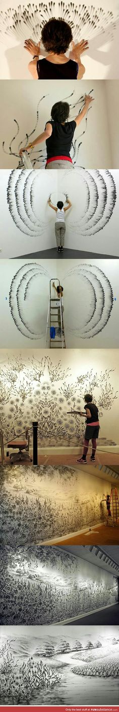 Taking finger painting to a whole new level.