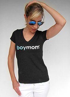 #Boymom! The apparel brand for moms raising boys. Ultra soft and hip classic boymom tee. Perfect gift for Mom! 4.3 oz. 50% Poly/25% Cotton/25% Rayon pre-shrunk S...