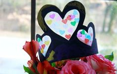 Stained Glass Heart Crowns for Valentine's Day