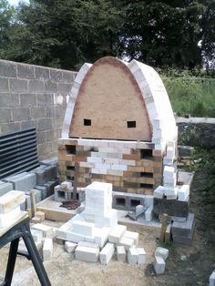 Penny and John West's new wood-fire kiln at http://www.lansdownpottery.co.uk/ Joe Finch design/build June 2014 under construction.