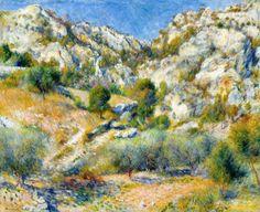 Rocky Crags at L'Estaque, Renoir 1882, Fade Resistant HD Art Print in Art, Prints   eBay
