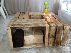 table basse fabriqu par jean caisses pommes authentiques new app pinterest tables et jeans - Table Basse En Caisse En Bois