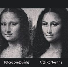 The Mona Lisa - before and after contouring :-) - Makeup | Bellashoot