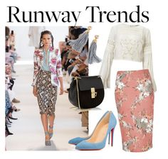 """runaway trends"" by lucijabxoxo ❤ liked on Polyvore featuring Altuzarra, Miss Selfridge, River Island, Christian Louboutin, Chloé and J.Crew"