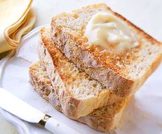 English Muffin Bread Serve this home-baked yeast bread recipe for breakfast with a spread of honey or butter.