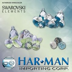 New SWAROVSKI ELEMENTS! Preseason Fall/Winter 2014-15 Launch.  New color blends! Crystal Montana Blend and Chyrsolite Provence Lavender Blend.