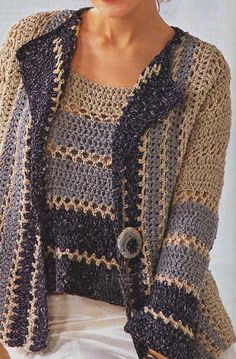 Crochet Woman, Crochet Lace, Real Women, Men Sweater, Pullover, Knitting, Sweaters, Clothes, Dresses