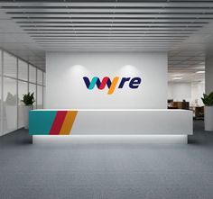 Branding and Visual Identity: Wyre Case Study Brand Identity Design, Design Agency, Branding Design, Sign Design, Wall Design, Booth Design, Reception Desk Design, Office Reception, Company Signage