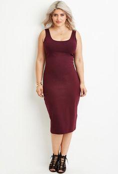 Plus Size Classic Midi Dress