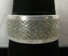 shopgoodwill.com: Thick Chunky Sterling Silver Band Size 9