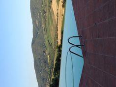   castello vicchiomaggio   infinity pool in chianti reagion   summer