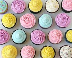 glaçages cupcakes américains