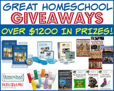 Great Homeschool Giveaway!! Enter now!! (ends 11/19/14)