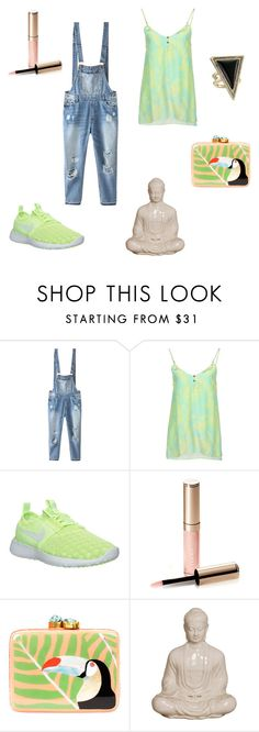 """""""No change"""" by her-aesthetic ❤ liked on Polyvore featuring Relaxfeel, Matthew Williamson, NIKE, By Terry, Aranáz and House of Harlow 1960"""