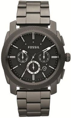 Fossil Men's FS4662 Machine Stainless Steel Watch, 45mm