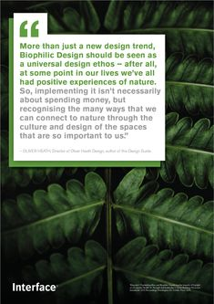 At some point in our lives, we've all had positive experiences of nature. Human Centered Design, Workplace Design, Built Environment, Our Life, Case Study, Design Trends, Insight, Competition, Positivity