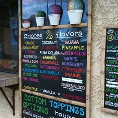 S & Q shave ice menu - Yelp