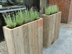 High variant of the pallet planters - # height .- Hohe Variante der Paletten-Pflanzgefäße – High variant of the pallet planters – the # Range Planters - Wood Pallet Planters, Wooden Pallet Furniture, Wood Pallets, Garden Pallet, Recycled Pallets, Pallet Wood, Pallet Patio, Pallet Fence, Wood Wood