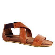 LBDK Sandal m/elastik, Cuero