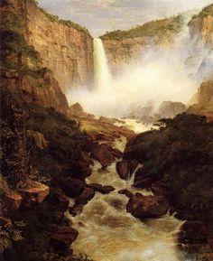 TITLE:	Tequendama Falls, Near Bogota, New Granada ARTIST:	Frederic Edwin Church OWNER:	Cincinnati Art Museum COUNTRY OF ORIGIN:	United States of America DATE OF CREATION:	1854 AD
