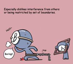 Blood type B dislikes interference from others or being restricted by set of boundaries. #Psychology