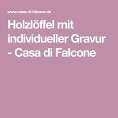 Holzlöffel mit individueller Gravur - Casa di Falcone