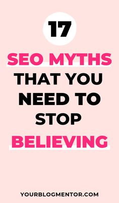 If you really want to succeed with search engine optimization then you really need to stop believing the myths. Here are 17 SEO myths that you really need to stop believing. Seo Marketing, Internet Marketing, Content Marketing, Affiliate Marketing, Digital Marketing, Seo Optimization, Search Engine Optimization, Email Writing, Seo Software