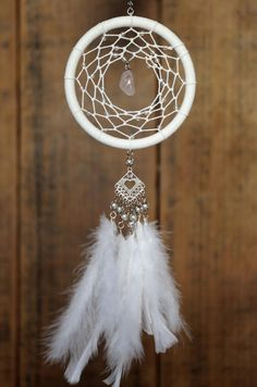 White Crystal Dreamcatcher