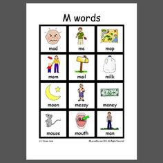 M words- Pinned by @PediaStaff – Please Visit ht.ly/63sNtfor all our pediatric therapy pins